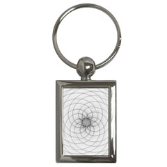 Spirograph Key Chain (Rectangle)