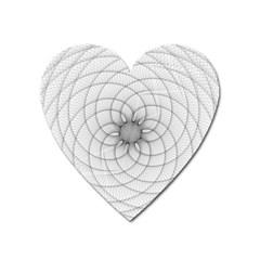 Spirograph Magnet (heart)