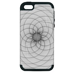 Spirograph Apple iPhone 5 Hardshell Case (PC+Silicone)