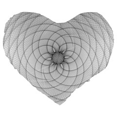 Spirograph 19  Premium Heart Shape Cushion