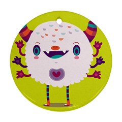 Moshi Round Ornament (Two Sides)