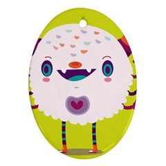 Moshi Oval Ornament (Two Sides)