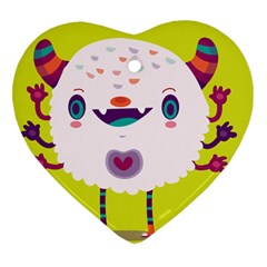 Moshi Heart Ornament (two Sides)