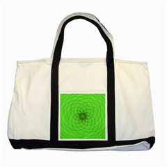 Spirograph Two Toned Tote Bag