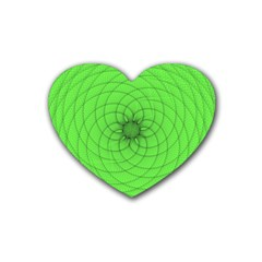 Spirograph Drink Coasters (heart)