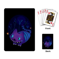 Cheshire mustache cat Playing Cards Single Design