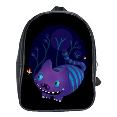 Cheshire mustache cat School Bag (Large)
