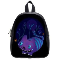 Cheshire mustache cat School Bag (Small)