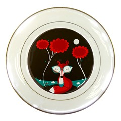 The read fox Porcelain Display Plate