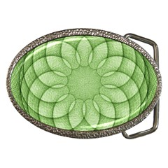 Spirograph Belt Buckle (Oval)