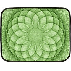 Spirograph Mini Fleece Blanket (Two Sided)