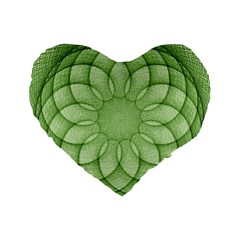 Spirograph 16  Premium Heart Shape Cushion