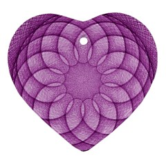 Spirograph Heart Ornament (Two Sides)