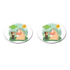 Tea time Cufflinks (Oval)
