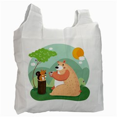 Tea Time Recycle Bag (one Side)