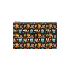 Woodland Animals Cosmetic Bag (small)