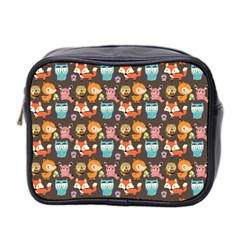 Woodland animals Mini Travel Toiletry Bag (Two Sides)
