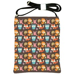 Woodland animals Shoulder Sling Bag