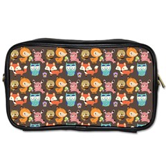 Woodland animals Travel Toiletry Bag (Two Sides)