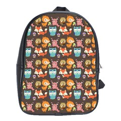 Woodland animals School Bag (XL)