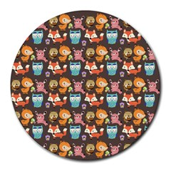 Woodland animals 8  Mouse Pad (Round)