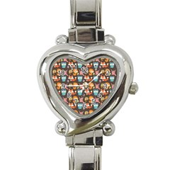 Woodland Animals Heart Italian Charm Watch