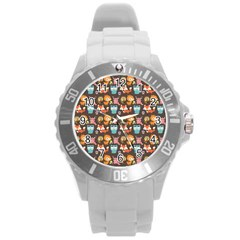 Woodland animals Plastic Sport Watch (Large)