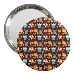 Woodland animals 3  Handbag Mirror