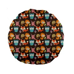 Woodland animals 15  Premium Round Cushion