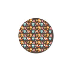Woodland animals Golf Ball Marker