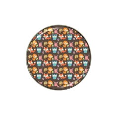 Woodland animals Golf Ball Marker 4 Pack (for Hat Clip)