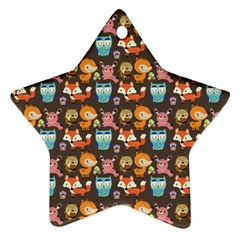 Woodland animals Star Ornament (Two Sides)