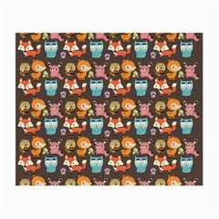 Woodland animals Glasses Cloth (Small, Two Sided)