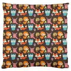 Woodland Animals Large Cushion Case (two Sided)