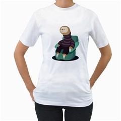Sloth Womens  T Shirt (white)