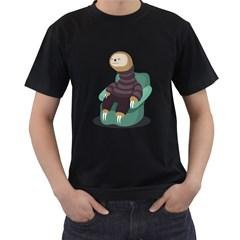 Sloth Mens' Two Sided T Shirt (black)