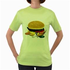 Make Donald Womens  T-shirt (Green)