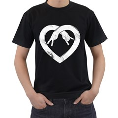 Peace Love And Rock N Roll Mens' Two Sided T Shirt (black)