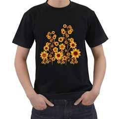 Sunflower Cheers Mens' T-shirt (Black)