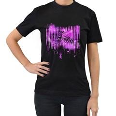 The Hidden Zebra Womens' T-shirt (Black)