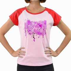 The Hidden Zebra Women s Cap Sleeve T-Shirt (Colored)