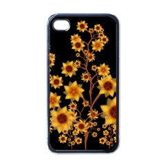 Sunflower Cheers Apple iPhone 4 Case (Black)