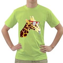 NEW WAVE GIRAF Mens  T-shirt (Green)