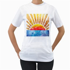 Beyond The Clouds Womens  T Shirt (white)