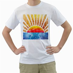 BEYOND THE CLOUDS Mens  T-shirt (White)