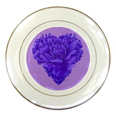 Purple Porcelain Display Plate