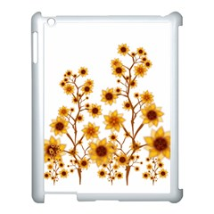Sunflower Cheers Apple iPad 3/4 Case (White)