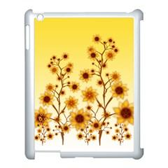 Sunflower Cheers Apple iPad 3/4 Case (White)
