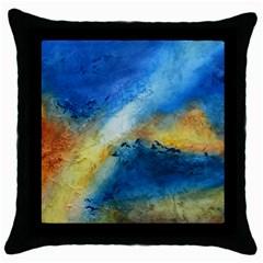 Ocean Black Throw Pillow Case