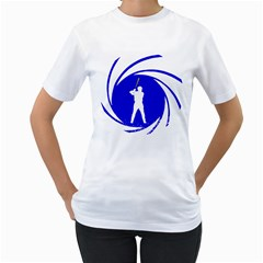 The man with the golden bat Womens  T-shirt (White)